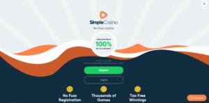 simple casino homepagina - simple casino review