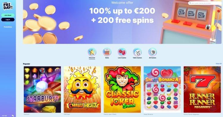 casino-friday-recensie | Hollandsegokken.nl